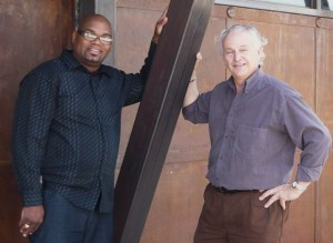 Empowerment Center Director, Reverend Johnny R. Flowers; and Architect, Allan Ross