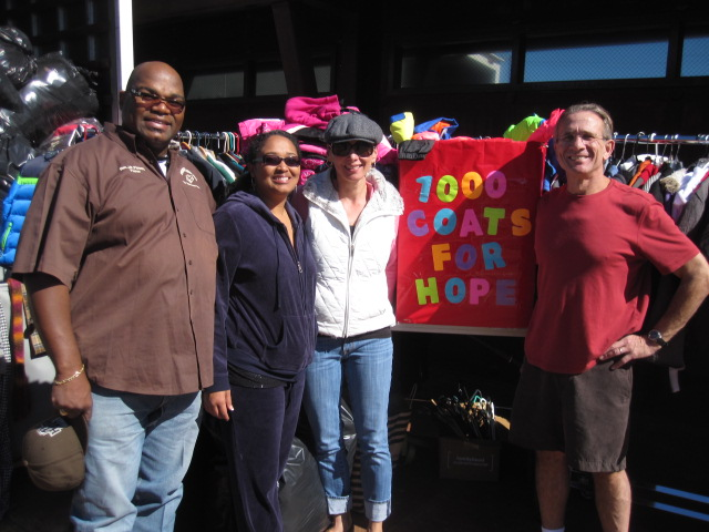 1000 Coats For Hope Coat Drive 2013 a huge success! Thank you to everyone who donated!